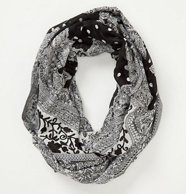 Anthropologie Chandi Crewlwork Scarf - saved by Chic n Cheap Living