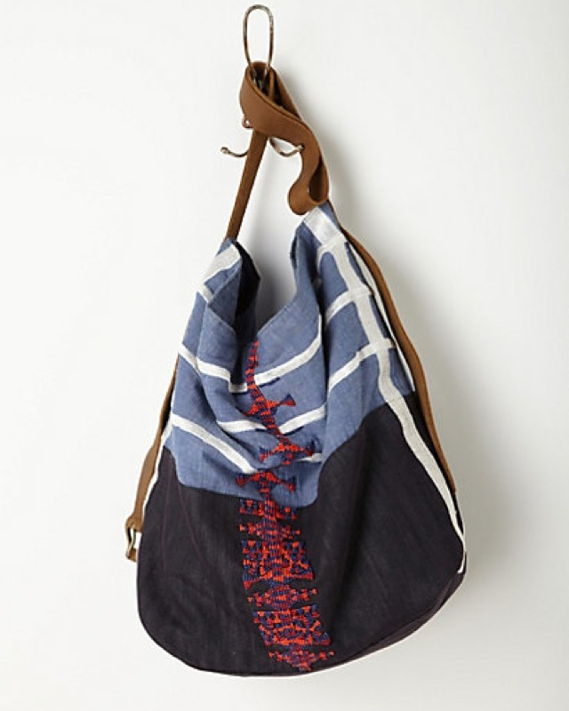 Anthropologie Embellished chambray hobo - saved by Chic n Cheap Living