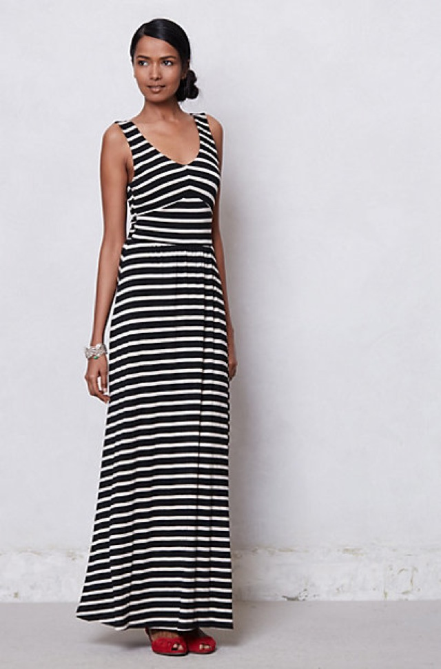 Turmec Anthropologie Strapless Maxi Dress