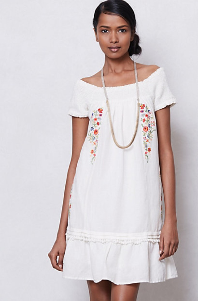 Anthropologie smocked malee dress - saved by Chic n Cheap Living