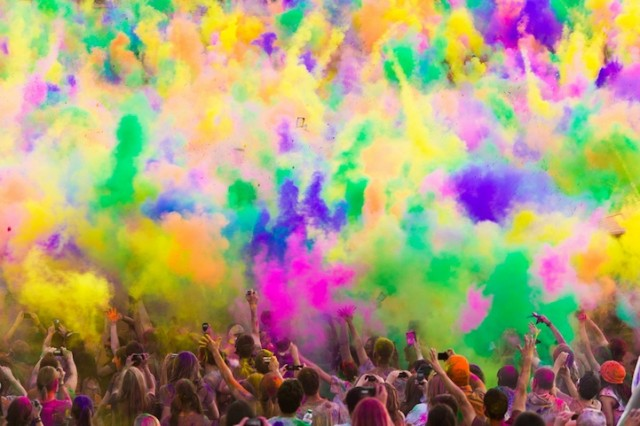holi by Parker Walbeck Holi slow motion close up - saved by Chic n Cheap Living