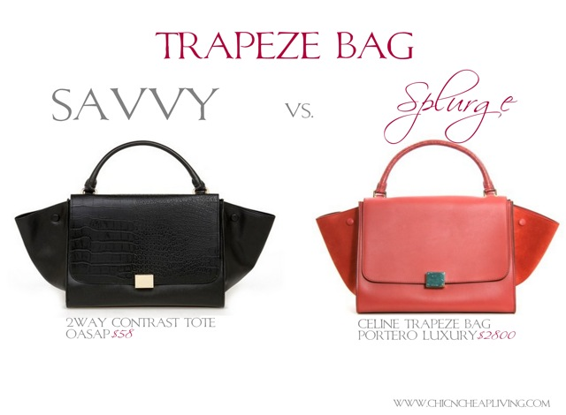 Trapeze bag Savvy vs. Splurge - by Chic n Cheap Living