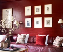 NYC Tina and Jeffrey Bolton Townhouse office by John Saladino on Elle Decor - saved by Chic n Cheap Living